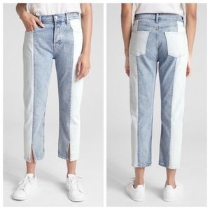NWT GAP high rise straight crop mom jeans size 28